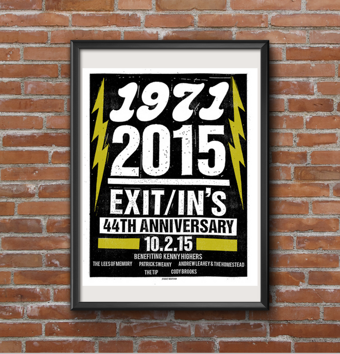 44th Anniversary Exit/In Screen Print