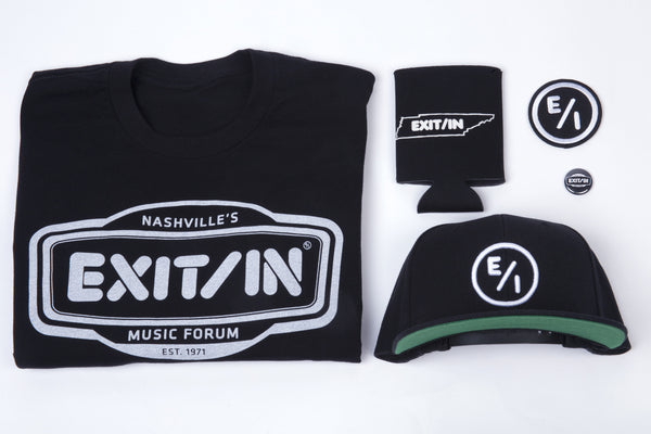 Exit/In Rock Block Packages -- Hat, koozie, patch, shirt