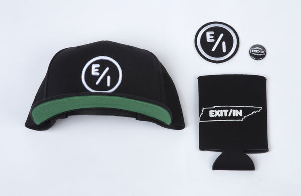 Exit/In Rock Block Packages -- Hat, koozie, patch