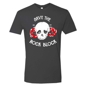 Save The Rock Block Skull Tee