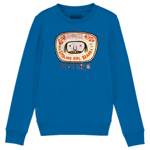Smiling Girl Kids' Sweatshirt