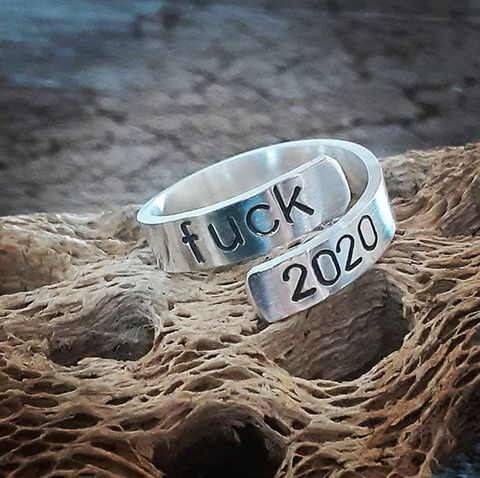 fuck 2020 bypass ring solid sterling silver