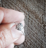 cute ladybug sterling silver stacking ring