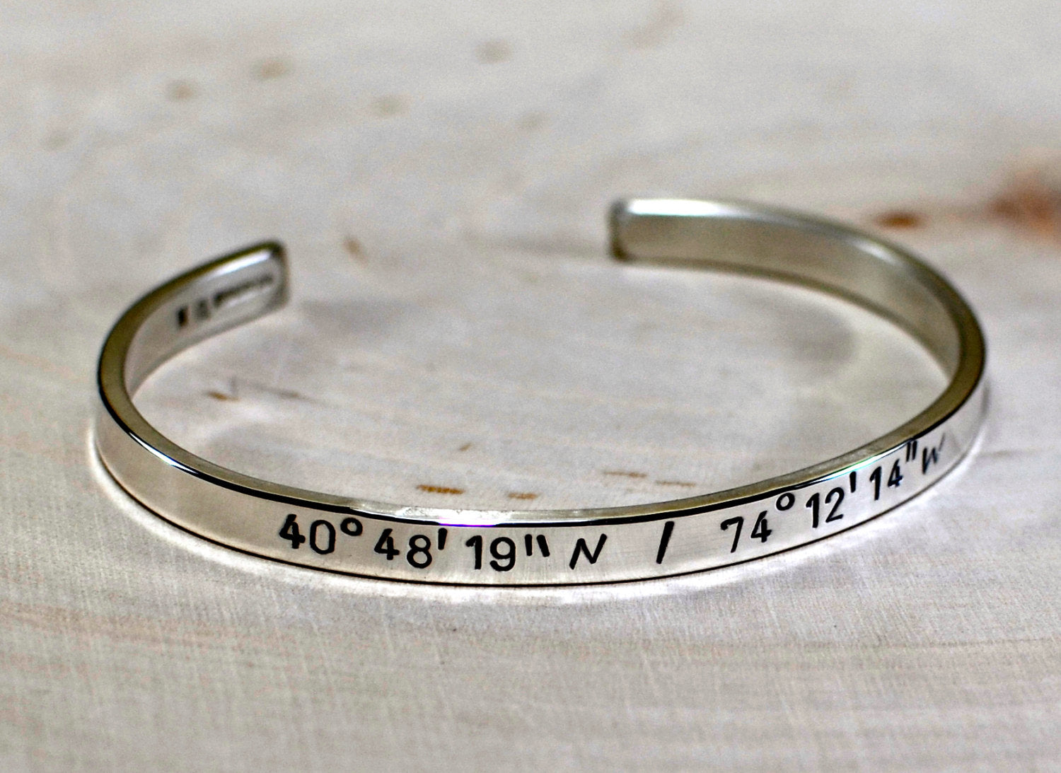 products il gold cuff for bracelet longitude fullxfull men him anniversary personalized mens coordinates latitude gps