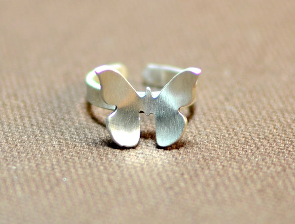 Butterfly knuckle ring in sterling silver, NiciArt