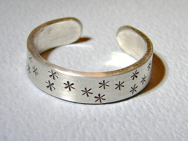 Sterling silver starry night toe ring
