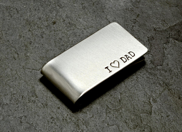 Solid Sterling Silver Money Clip for Father's Day and Fatherhood Celebrations