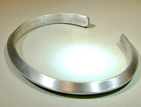 Sterling silver triangle shaped bangle, NiciArt