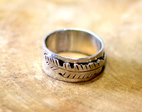 Feather ring in sterling silver, NiciArt