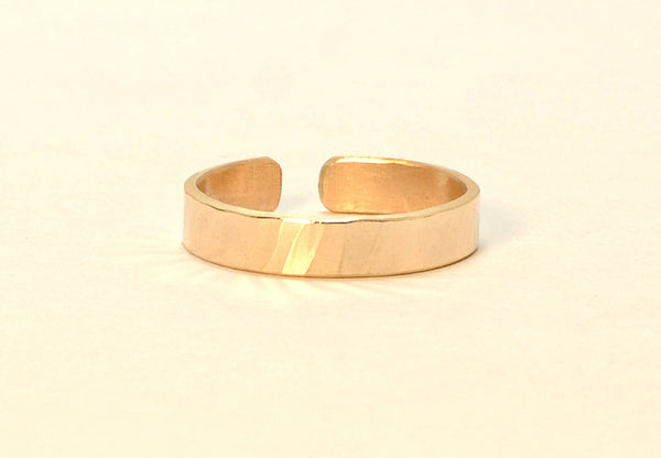Solid Gold Hammered 14 k Toe Ring
