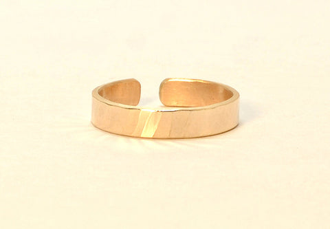 Solid Gold Hammered 14 k Toe Ring, NiciArt
