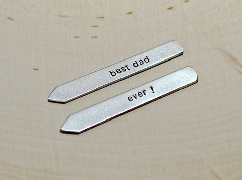 Best dad ever collar stays in aluminum, NiciArt