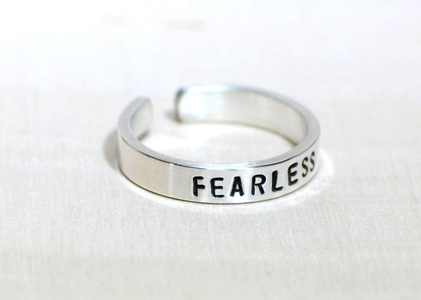 Sterling Silver Fearless Toe Ring