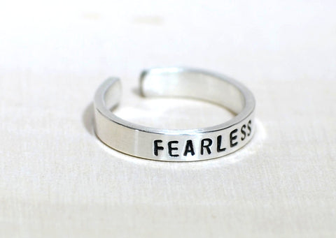 Sterling Silver Fearless Toe Ring, NiciArt