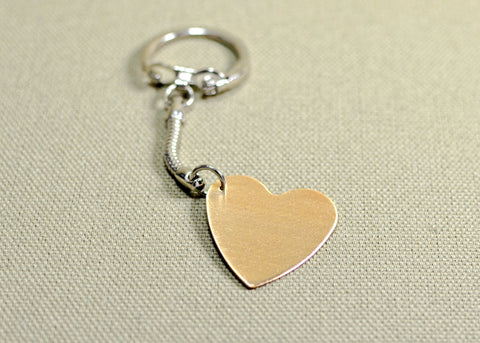 Bronze personalized heart keychain, NiciArt