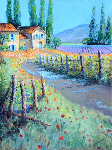 Custom Landscape Paintings on Canvas with Acrylic – California Vineyard, NiciArt