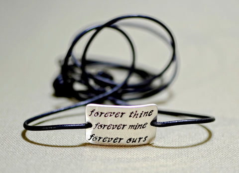 Forever thine forever mine sterling silver wrap bracelet, NiciArt