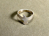 Sterling silver soaring seagull ring, NiciArt