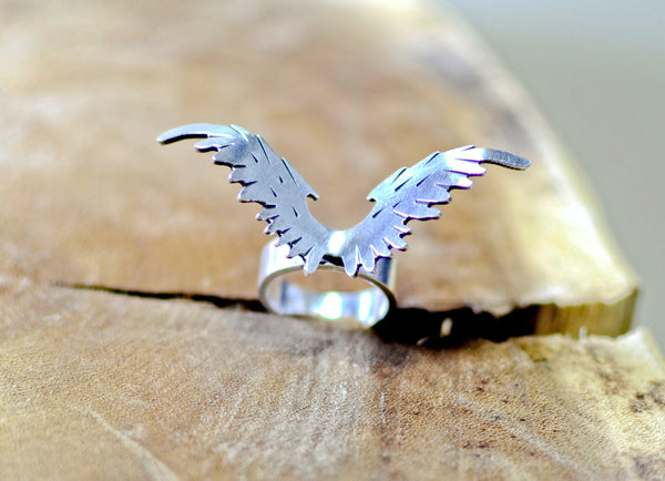 Sterling Silver Eagle Wings Ring