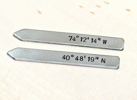 Aluminum latitude longitude collar stays, NiciArt