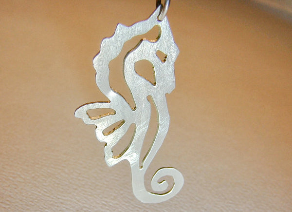 Sterling Silver Sea Horse Necklace