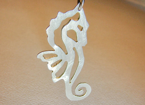 Sterling Silver Sea Horse Necklace, NiciArt