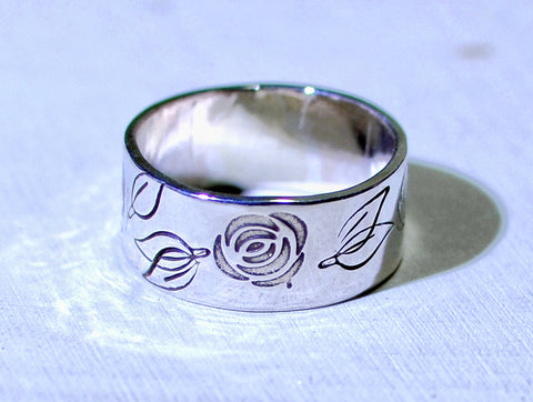Sterling silver rose ring, NiciArt