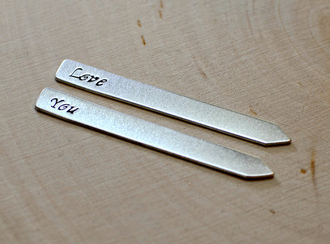 Collar stays in aluminum or sterling silver, NiciArt