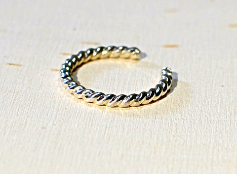 Sterling silver twisted wire toe ring, NiciArt