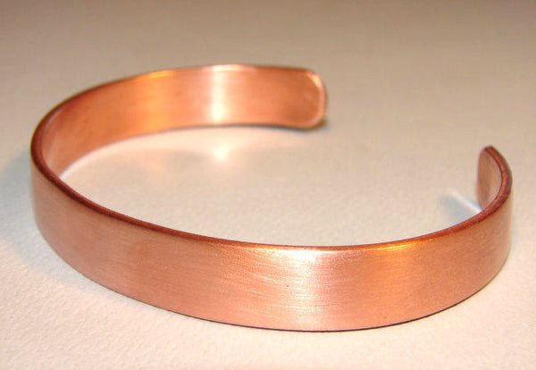 Copper Cuff Bracelet with Brushed Finish, NiciArt