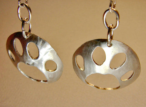 Wild Paw Sterling Silver Earrings, NiciArt