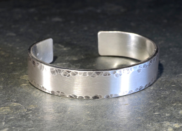 Massive Hammered Sterling Silver Cuff Bracelet Handcrafted to Impress Fans of Chunky Jewelry