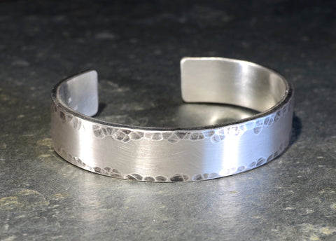 Massive Hammered Sterling Silver Cuff Bracelet Handcrafted to Impress Fans of Chunky Jewelry, NiciArt