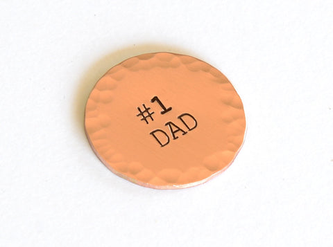 Number One Dad Copper Golf Ball Marker, NiciArt