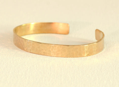 Hammered Bronze Medium Width Cuff Bracelet for Minimalism that Says Everything, NiciArt