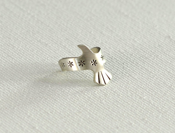 Sterling Silver Dainty Bird Ear Cuff