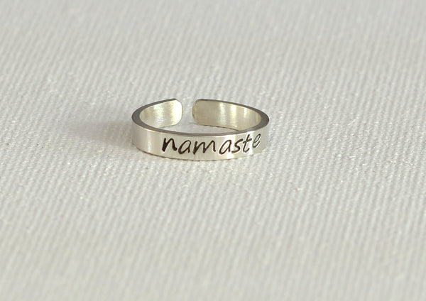Namaste Dainty Sterling Silver Toe Ring