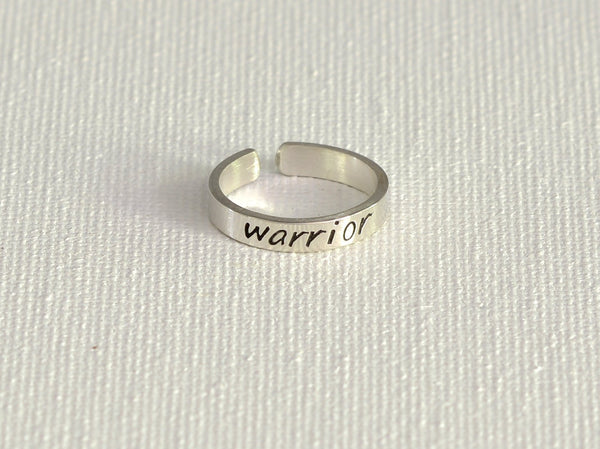 Dainty Warrior Sterling Silver Toe Ring