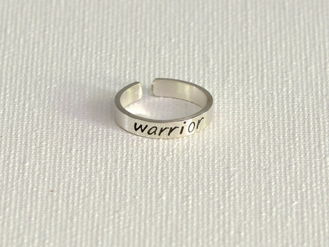 Dainty Warrior Sterling Silver Toe Ring, NiciArt