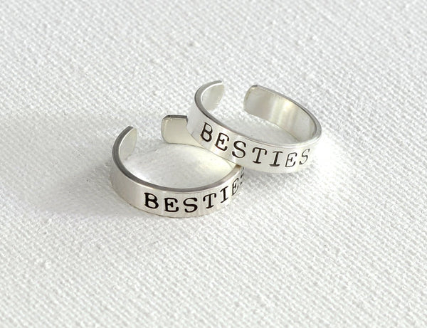 Besties Sterling Silver Toe Ring Set, NiciArt