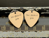 Couples Guitar Pick Personalized Keychain Set – He picked you – She picked you, NiciArt