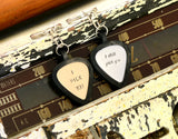 Personalized Guitar Pick Keychains for Couples  – I still pick you – I pick you, NiciArt