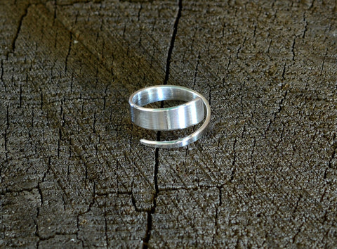 Polished Artisan Tapered Sterling Silver Toe Ring, NiciArt