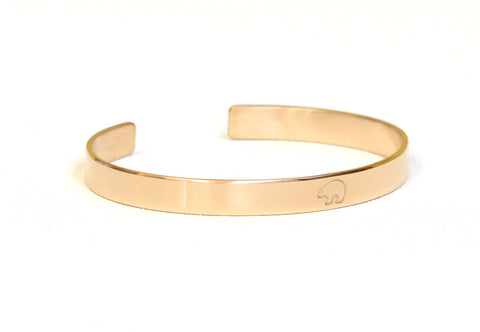 Solid 14k Gold Bracelet with Spirit Bear, NiciArt