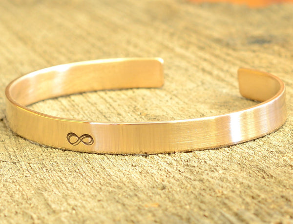 Bronze Infinity Cuff Bracelet for Everlasting Love, NiciArt