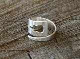 Sterling Silver Guitar Wrap Ring for Musical Inspiration