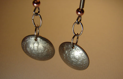 Double Dime Dangle Earrings, NiciArt