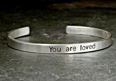 You are loved sterling silver cuff bracelet, NiciArt
