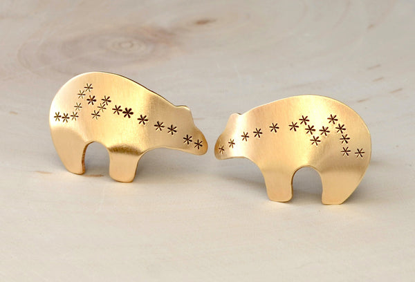 Bronze spirit bear cuff links, NiciArt