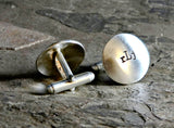 Sterling silver personalized monogram cuff links, NiciArt